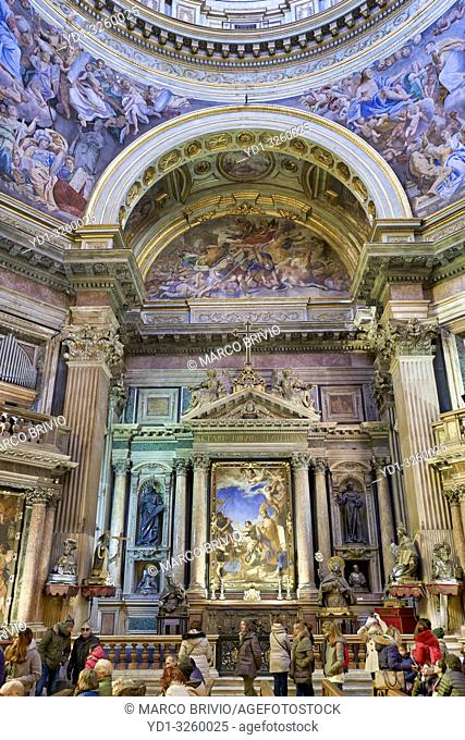 Naples Campania Italy. Naples Cathedral(Duomo di Napoli,Cattedrale di Santa Maria AssuntaorCattedrale di San Gennaro) is aRoman Catholiccathedral
