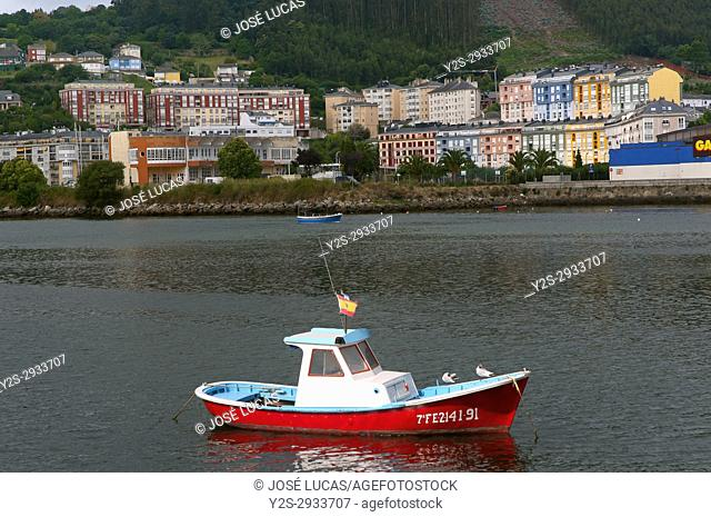 Estuary and town, Viveiro, Lugo province, Region of Galicia, Spain, Europe