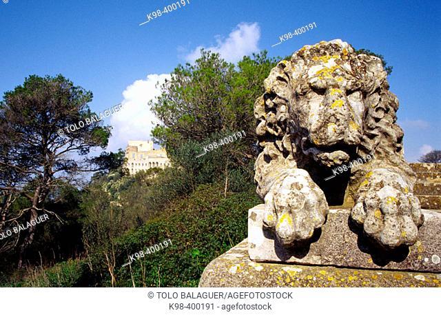Sanctuary of Sant Salvador (1348). Felanitx. Mallorca. Baleares. Spain