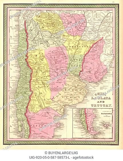 Chilie, La Plata, Uruguay - 1849 1849