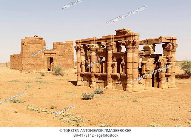 Lion Temple and Hathor Temple or Roman Kiosk, Naga, Nubia, Nahr an-Nil, Sudan