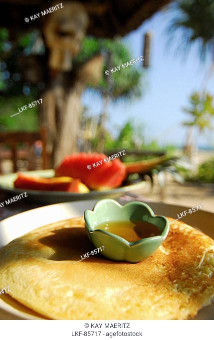 Pancake on the beach, beach restaurant Same Same but Different, Ao Kantiang, Ko Lanta, Thailand