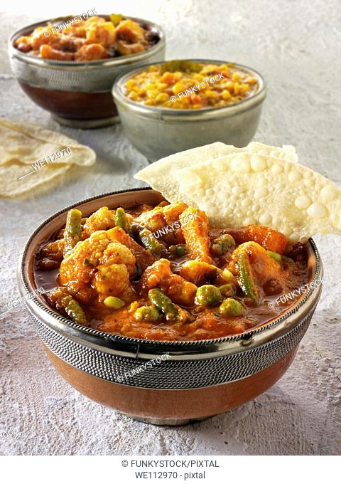 Vegetable curry, Indian food recipe