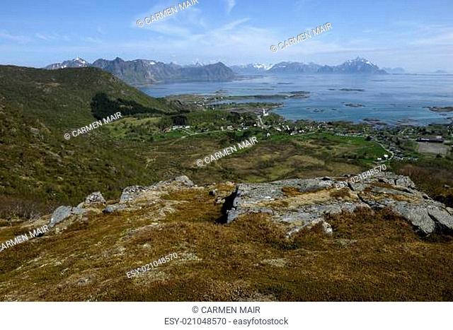 Ausblick vom Steinstinden bei Stamsund