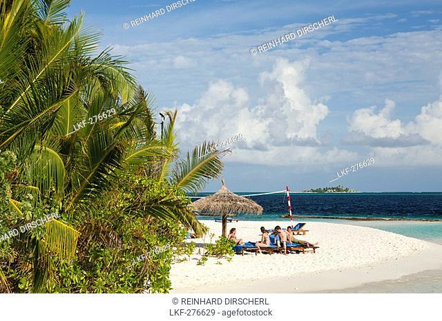 Beach of Maldive Island Ellaidhoo, Maldives, North Ari Atoll