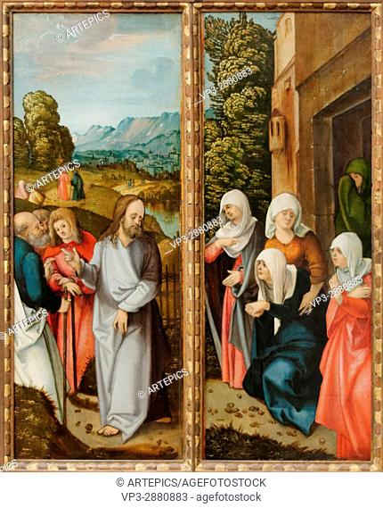 Hans Schäufelein - Christ takes leave of his mother - 1504 - XVI th Century - German School - Gemäldegalerie - Berlin