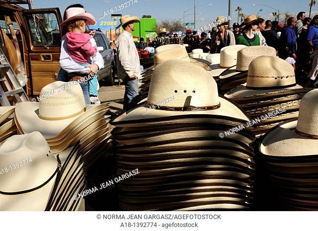 The parade at the Fiesta de Los Vaqueros, an annual rodeo in Tucson, Arizona, USA, claims to be the longest non-motorized parade in the world