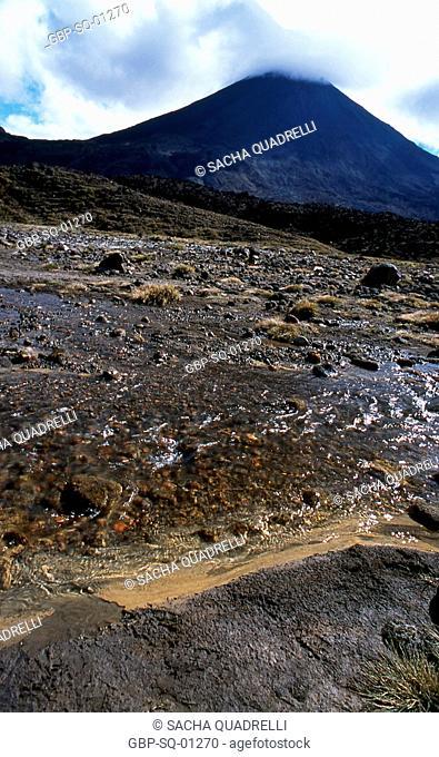 Mt. Ruapehu, North Island, Tongariro National Park, New Zealand