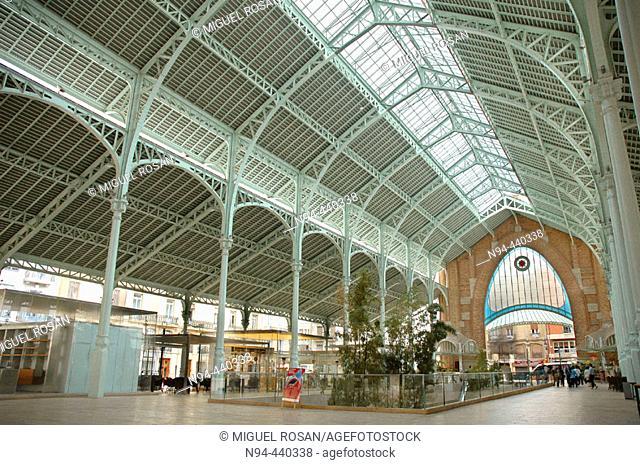 Interior of 'Mercado de Colón'. Valencia. Spain