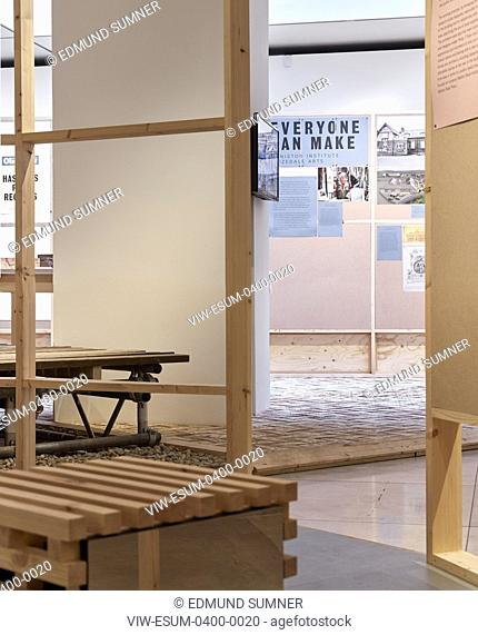 View from central structure. Making it happen: new community architecture exhibition at RIBA, London, United Kingdom. Architect: Hayatsu Architects, 2019