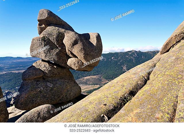 Cliffs in the Pedriza. Regional Parck. Manzanares el Real. Madrid. Spain. Europe