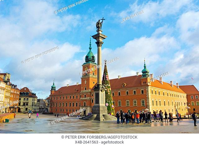 Plac Zamkowy, Castle square, central Warsaw, Poland