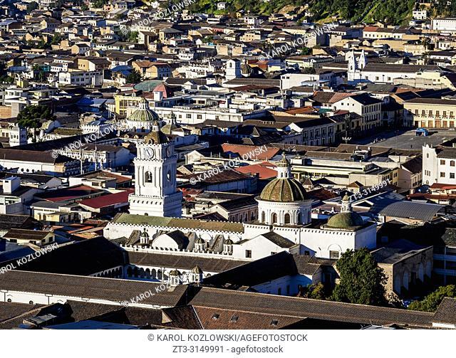La Merced Church, elevated view, Old Town, Quito, Pichincha Province, Ecuador