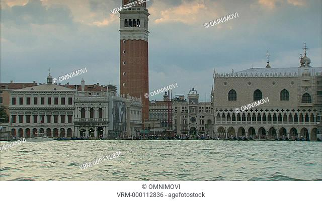 St. Mark's Square, Doge's Palace, Campanile and buildings on waterfront of St. Mark's Basin