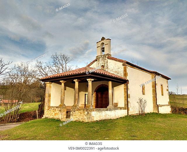 San Antonio chapel, Piloñeta village, Nava, Asturias, Spain