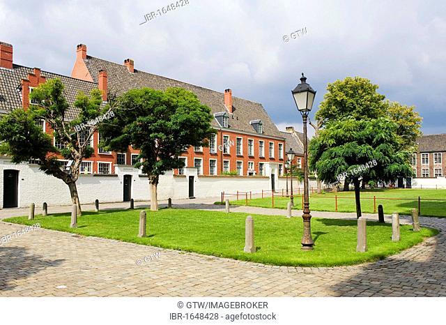 Small beguinage Onze-Lieve-Vrouw ter Hoye, Petit béguinage Notre-Dame de Hoye, Unesco World Heritage Site, Gent, Belgium, Europe