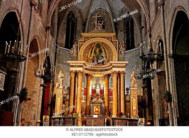 Church of Sant Just i Pastor, gothic, Barcelona, Catalonia, Spain