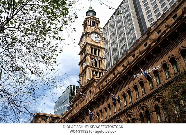 Sydney, New South Wales, Australia - A view of the former General Post Office building in Sydney's central business district in Martin Place