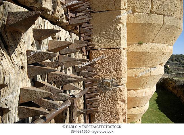 Detail of the castle in Pedraza, Segovia, Spain