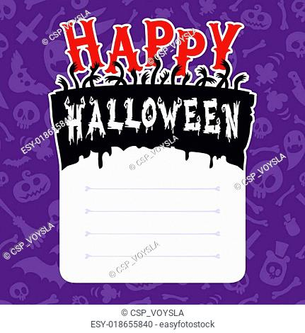 Happy Halloween Card with Text Box