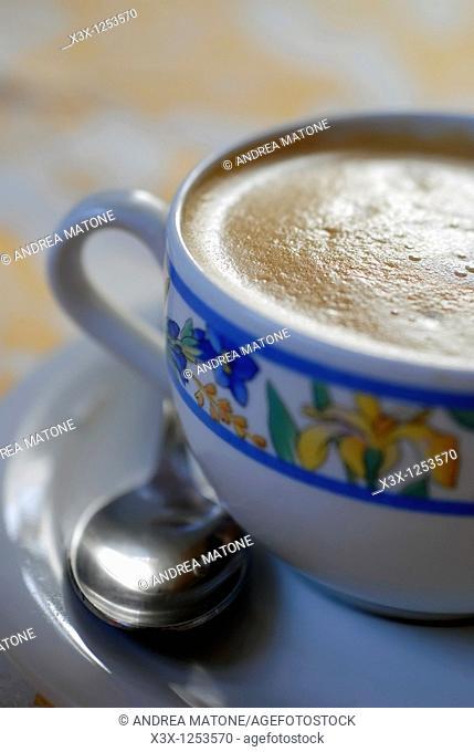 An Italian cappuccino