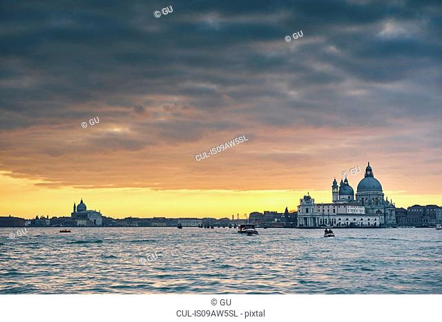 View of Church of San Giorgio Maggiore at dusk, Burano, Venice, Italy