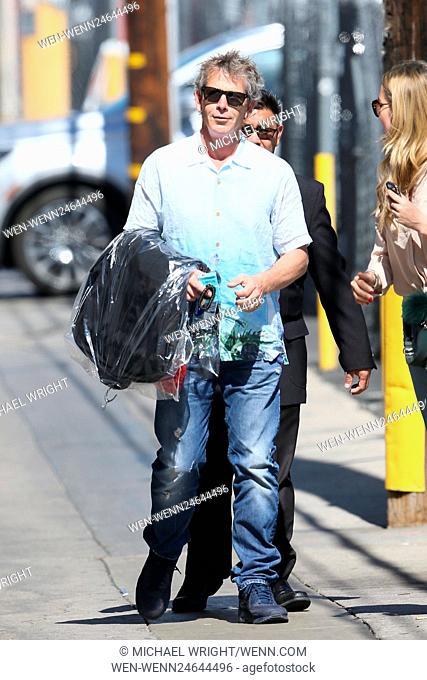 Ben Mendelssohn seen greeting fans as he arrives at the ABC studios for Jimmy Kimmel Live Featuring: Ben Mendelsohn Where: Los Angeles, California