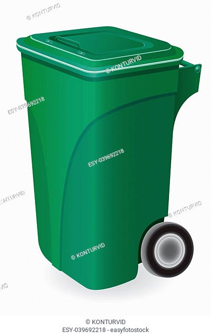 trash can illustration isolated on white background