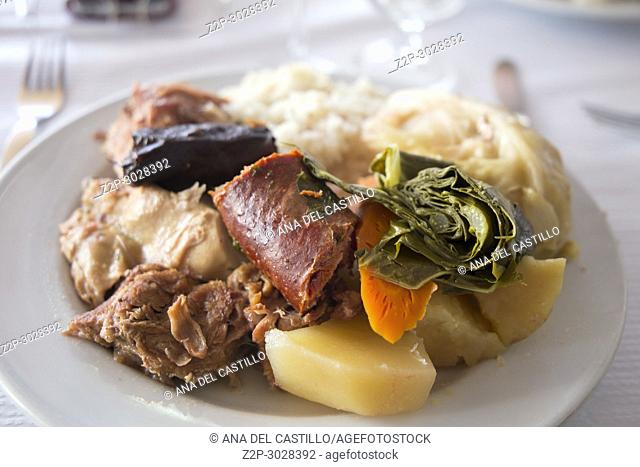 Cocido das Furnas typical stew in Azores islands, Portugal