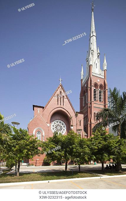 Holy Trinity Cathedral built in 1895, Yangon, Myanmar, Asia