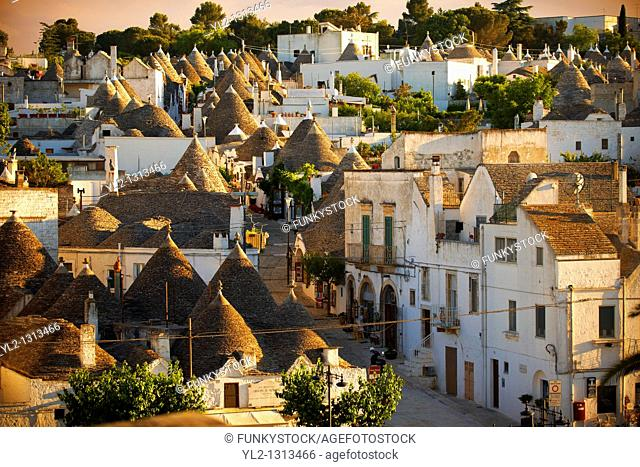 Trulli houses of the Rione Monti Area of Alberobello, Puglia, Italy