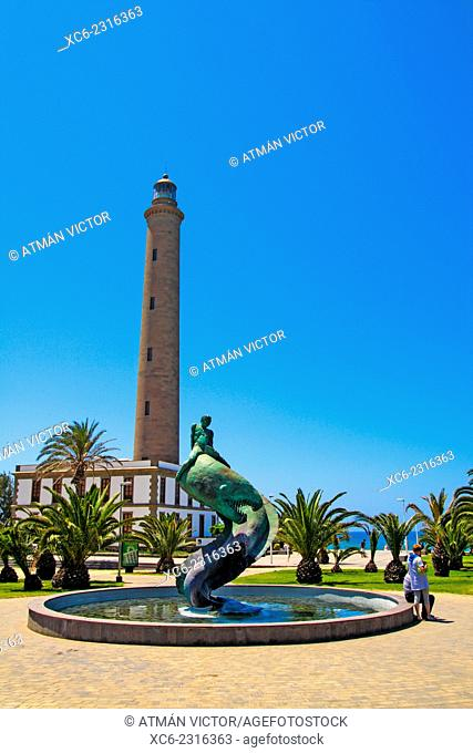 Lighthouse of Maspalomas municipality. Gran Canaria island