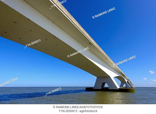 Traffic bridge, Zeelandbrug, Oosterschelde, Zeeland, Netherlands