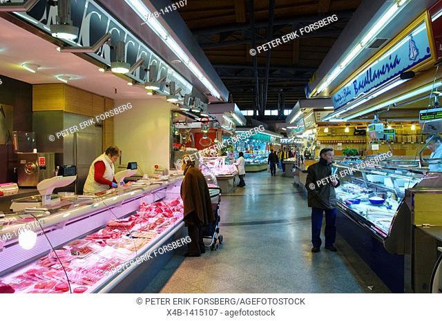 Mercat Santa Caterina market hall Sant Pere district Barcelona Catalunya Spain Europe
