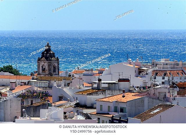 Europe, Portugal, Algarve, Faro district, panorama of old town of Lagos