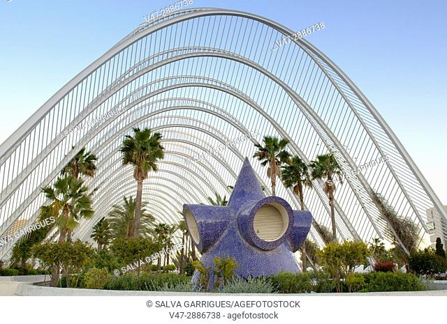 Umbracle, City of Arts and Sciences, Valencia, Spain, Europe
