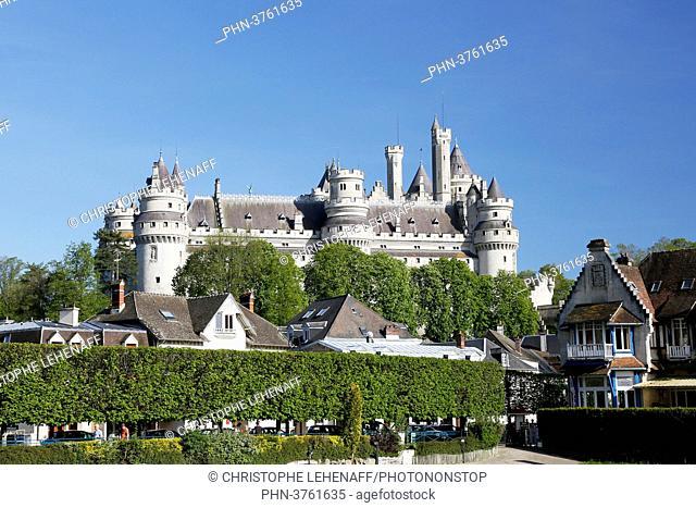 Oise. Pierrefonds. The castle of Pierrefonds