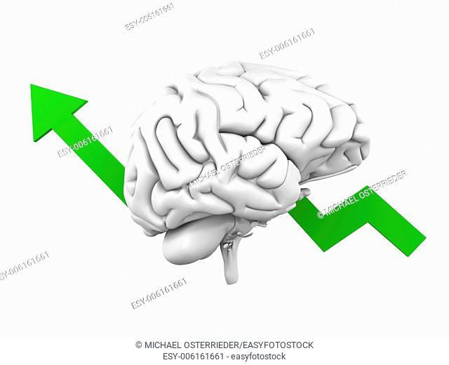 Growing intelligence. 3D Illustration