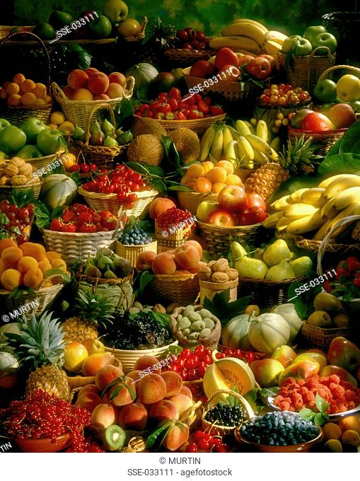 large composition of fruit