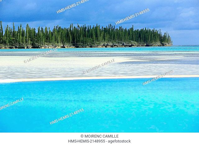 France, New Caledonia, Isle of Pines, Oro Bay Lagoon listed as World Heritage by UNESCO, Le Meridien, Compulsory mention : Le Meridien Noumea (Hotel Restaurant)