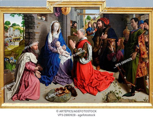 Hugo van der Goes - The Adoration of the Magi - 1520 - XVI th Century - Flemish School - Gemäldegalerie - Berlin