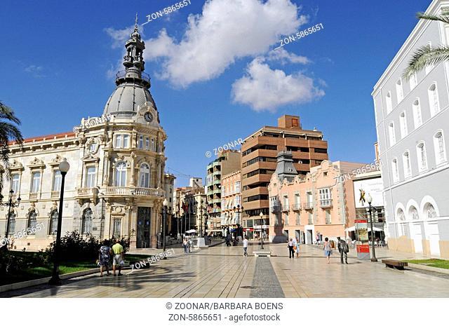 Town Hall, Cartagena, Murcia Region, Spain, Europe, Rathaus, Cartagena, Region Murcia, Spanien, Europa