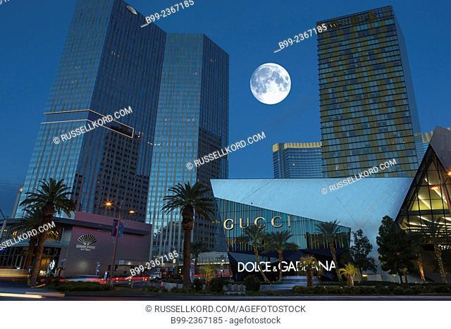 Aria Cosmopolitan Hotel Casino Entrances The Strip Las Vegas Nevada Usa