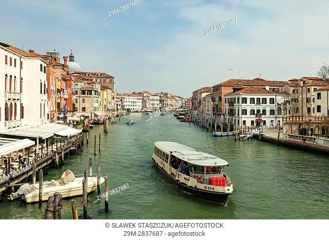 Spring afternoon at Grand Canal in Venice, Italy