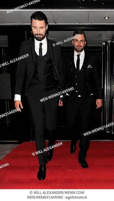 Celebrities leaving the Connaught Rooms in Covent Garden Featuring: Rylan Clark, Dan Neal Where: London, United Kingdom When: 12 May 2017 Credit: Will...