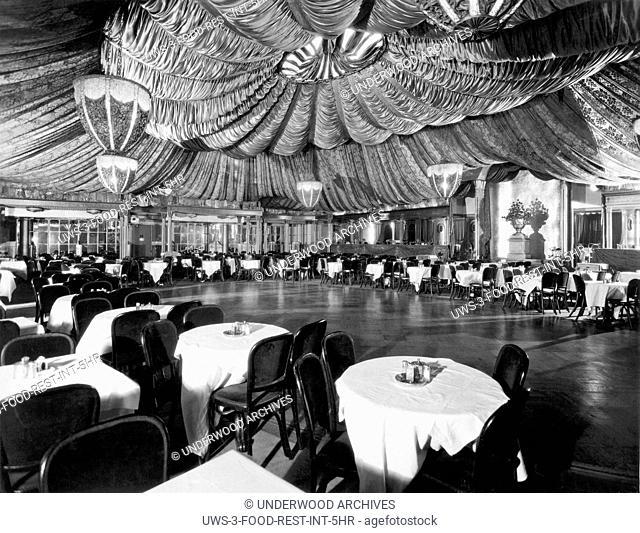 New York, New York: c. 1926.An interior shot of a plush nightclub