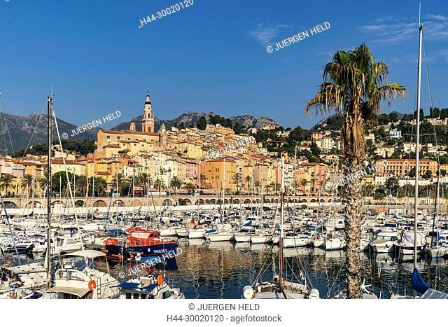 France, Cote D Azur, Marina of Menton, French Rivera