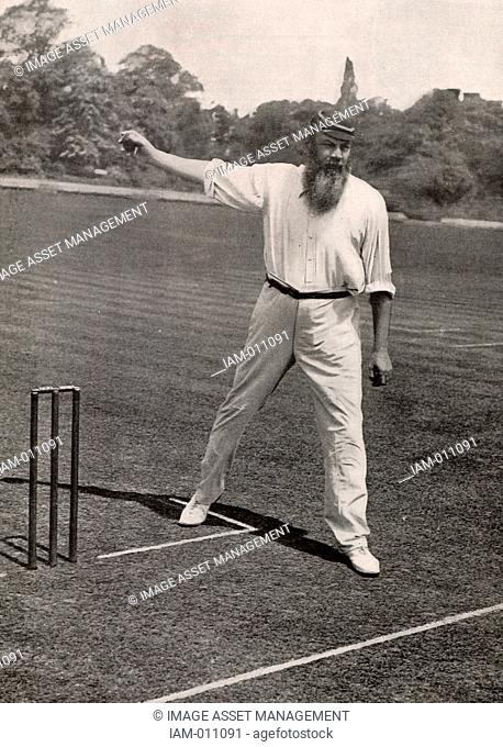 William Gilbert ('W G') Grace (1848-1915) English first-class cricketer and physician, born at Downend near Bristol. His career lasted from 1864-1908