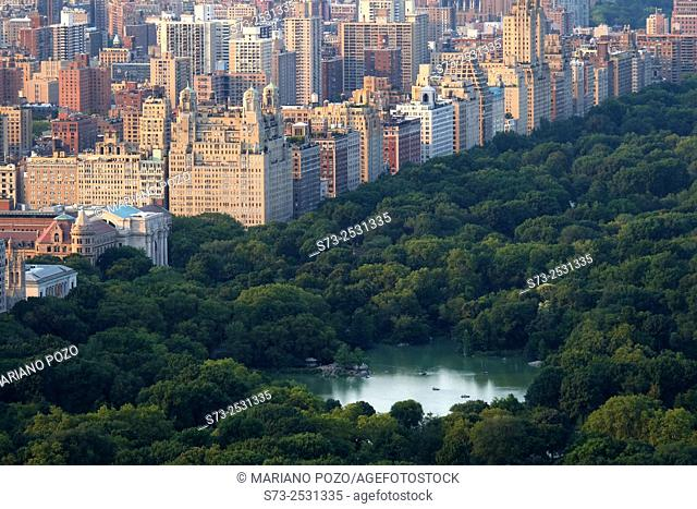View of Central Park and North Manhattan from Top of the Rock, New York, USA
