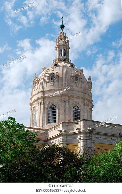 Basilica Da Estrela Dome in Lisbon
